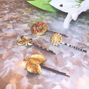 One-of-a-Kind Vintage Hair Pins - Precious Pearls